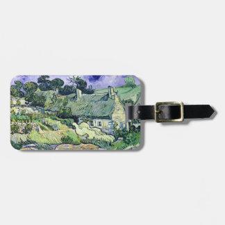 Étiquette À Bagage Vincent van Gogh   a couvert des cottages de