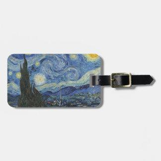 Étiquette À Bagage Vincent van Gogh | la nuit étoilée, juin 1889