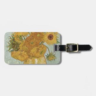 Étiquette À Bagage Vincent van Gogh - tournesols - bel art floral