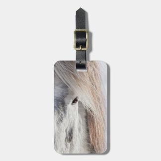 Étiquette À Bagage Visage islandais blanc de cheval, Islande