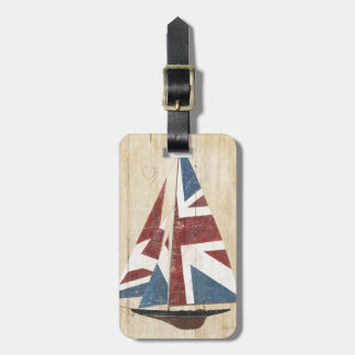Étiquette À Bagage Voilier britannique de drapeau