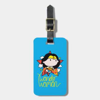 Étiquette À Bagage Vol de femme de merveille de Chibi avec le lasso