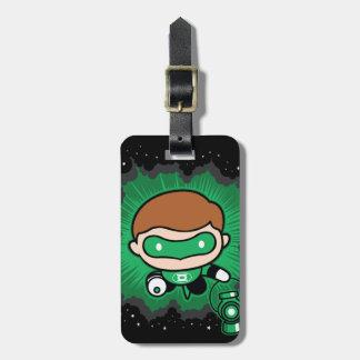 Étiquette À Bagage Vol vert de lanterne de Chibi par l'espace