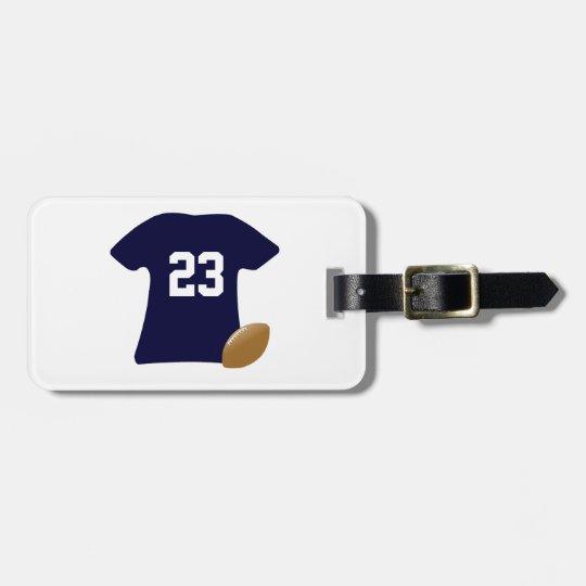 Étiquette À Bagage Votre chemise du football avec la boule