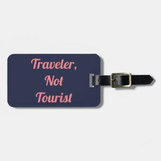 Étiquette À Bagage Voyageur pas une étiquette de touristes de bagage