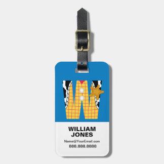 Étiquette À Bagage W est pour Woody que | ajoutent votre nom