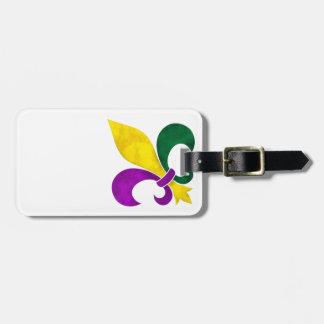 Étiquette À Bagage watercolor fleur de lis