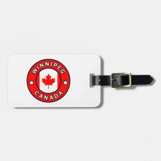 Étiquette À Bagage Winnipeg Canada