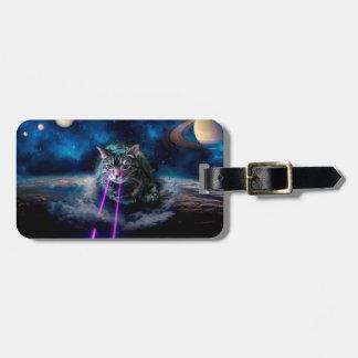 Étiquette À Bagage Yeux de laser de chat - chats dans l'espace