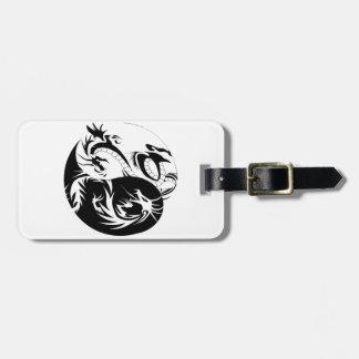 Étiquette À Bagage Ying Yang dragon