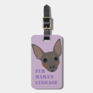 Étiquette à main de valise (bleue) de bagage de étiquette pour bagages