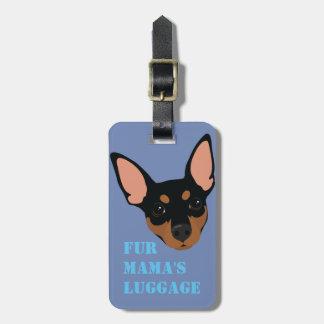 Étiquette à main de valise (noire) de bagage de étiquettes bagages