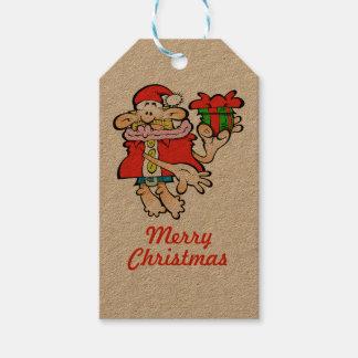 Étiquette absurde de cadeau de Noël de Père Noël