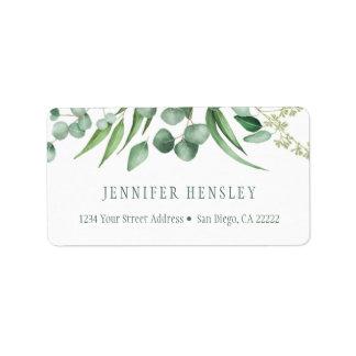 Étiquette Adresse botanique   d'envie d'eucalyptus