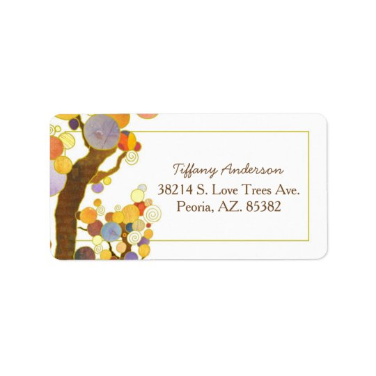Étiquette Adresse de Bohème de mariage de style