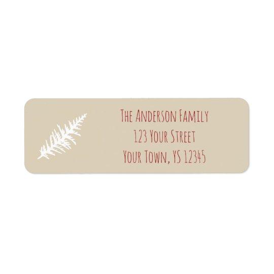 Étiquette Adresse de Noël de baie