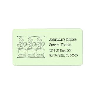 Étiquette Adresse de retour d'affaires de plante et de