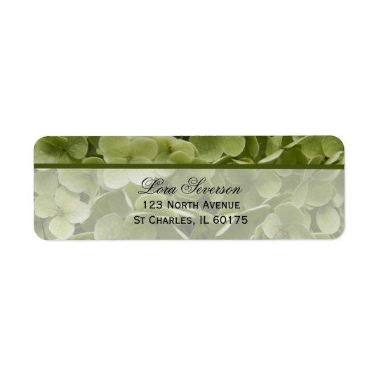 Étiquette Adresse de retour d'Annabelle de fleur verte