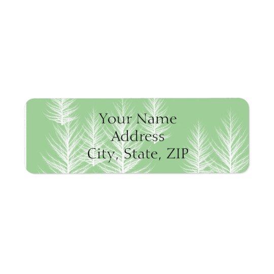 Étiquette Adresse de retour d'anniversaire vert moderne de f