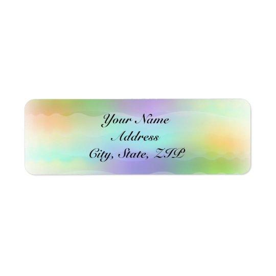 Étiquette Adresse de retour de jeunes mariées en pastel