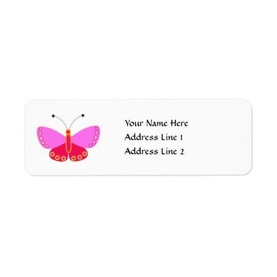 Étiquette Adresse de retour de papillon