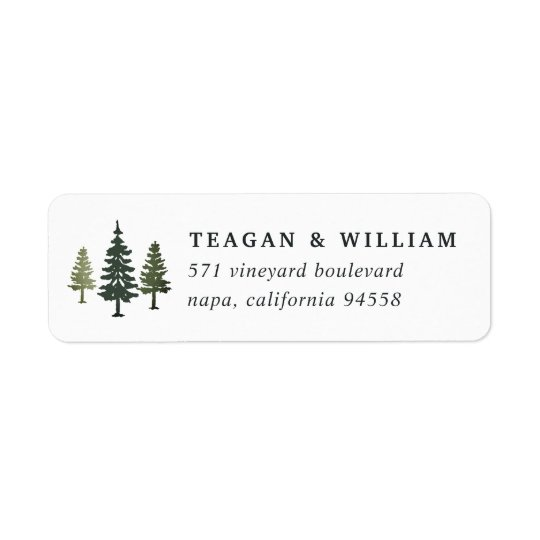 Étiquette Adresse de retour de pins grands