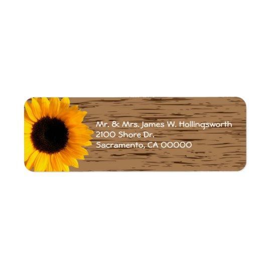 Étiquette Adresse de retour faite sur commande en bois de gr