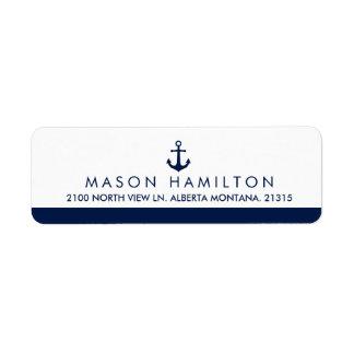 Étiquette Adresse de retour nautique de l'ancre | de style