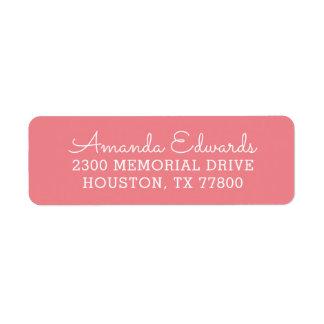 Étiquette Adresse de retour personnalisée moderne