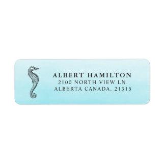 Étiquette Adresse de retour personnalisée par | bleue