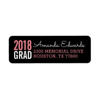 Étiquette Adresse de retour personnalisée par diplômé