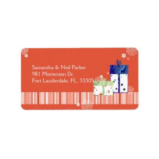 Étiquette Adresse de vacances de cadeaux de Noël d'amusement