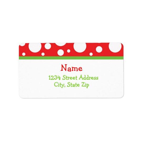 Étiquette Adresse Lables de points de Noël