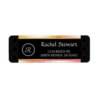 Étiquette Adresse personnalisée élégante décorée d'un