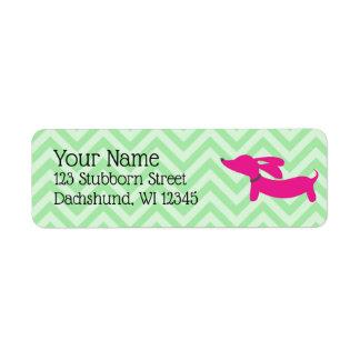 Étiquette Adresse rose et verte de très bon goût Lables de
