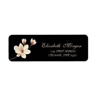 Étiquette Adresse sophistiquée élégante de magnolia