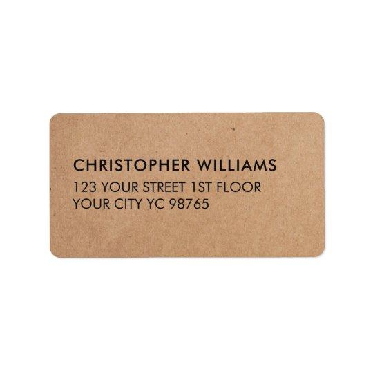 Étiquette Affaires élégantes simples de papier d'emballage