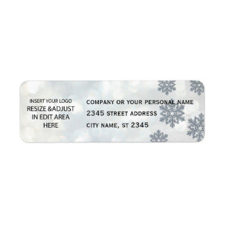 Étiquette Affaires/vacances lumineuses de flocon de neige