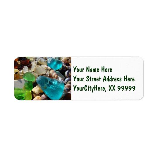 Étiquette Agates de retour de Seaglass de plage d'étiquettes