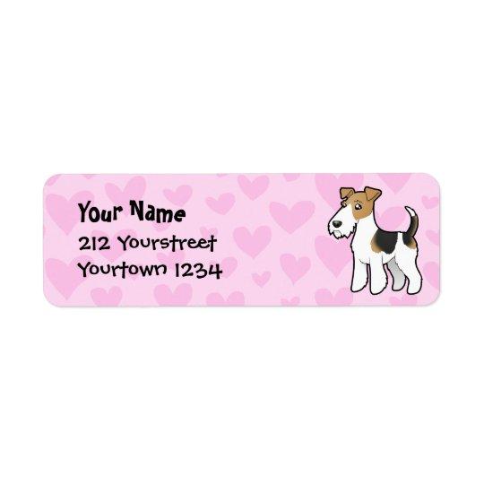 Étiquette Amour de Fox Terrier de fil