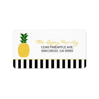 Étiquette Ananas jaune élégant