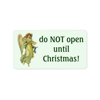 Étiquette Ange victorien de Noël, Gloria dans Excelsis Deo