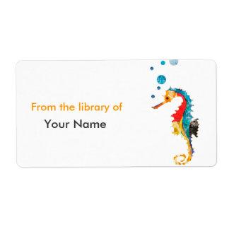 Étiquette Animal mignon d'océan d'hippocampe d'HIPPOCAMPE