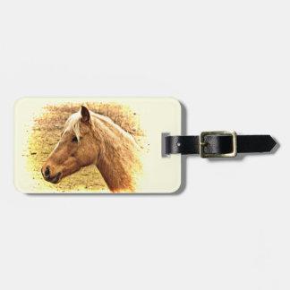 Étiquette animale de bagage de cheval de Brown Étiquette Pour Bagages