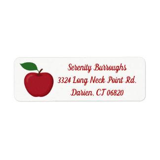 Étiquette Apple rouge - automne, mariage de automne, partie,