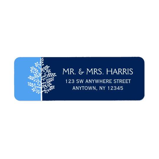 Étiquette Arbre bleu de marine de barre Mitzvah de la vie