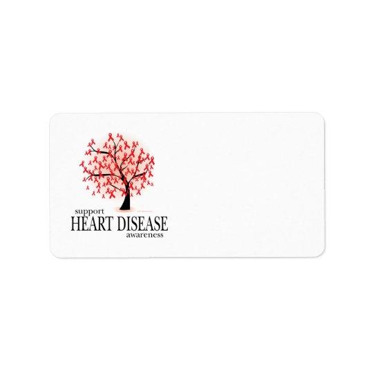 Étiquette Arbre de maladie cardiaque