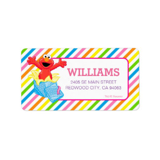 Étiquette Arc-en-ciel de filles du Sesame Street | Elmo