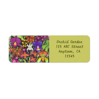 Étiquette Arc-en-ciel d'étiquette d'Avery d'orchidées