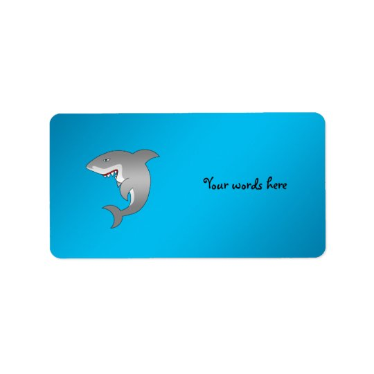 Étiquette Arrière - plan de bleu de requin